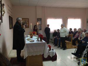 Celebrando la Misa de Navidad 2016 en la Residencia Virgen de Alharilla