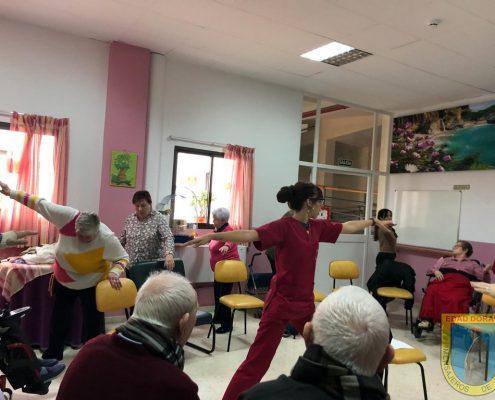 Clase de pilates en Residencia Virgen De Alaharilla